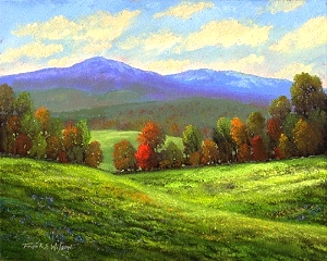 Frank Wilson - Tall Pines From Mountain Trail