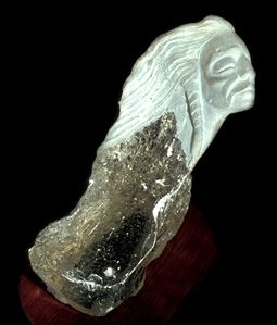 Rudolf Cavalier - Warrior Carved From Slag Glass